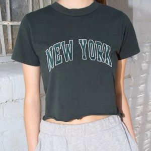 Brandy Melville hunter green Helen New York top